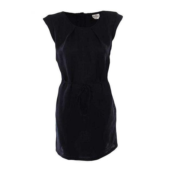 Dámské černé šaty se zavazováním v pase Timeout