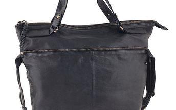 Dámská černá kabelka z kůže Amylee