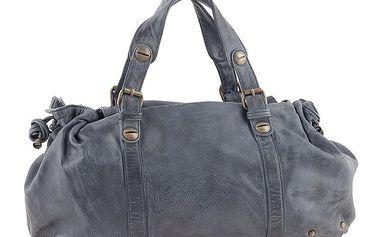 Dámská tmavě šedá kožená podlouhlá kabelka Amylee
