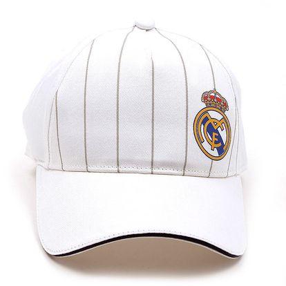 Bílá kšiltovka s proužky a korunou Adidas