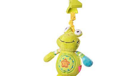 Baby Ono - plyšová vibrační hračka s klipem na kočárek 1139 - žába