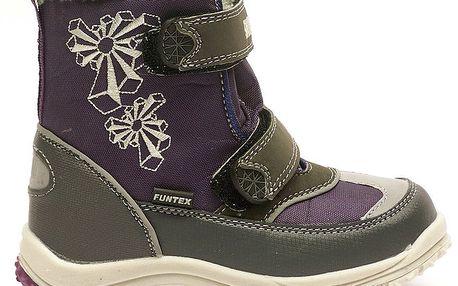 Dětské zimní fialovo-šedé boty Numero Uno