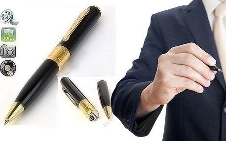 Špionážní pero s kamerou, foťákem a diktafonem