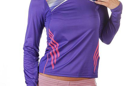 Dámské fialové triko s dlouhým rukávem Adidas