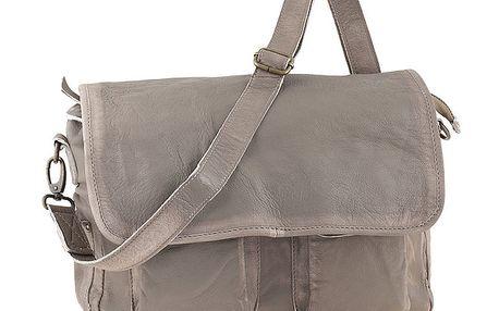Dámská kožená taška s klopou Amylee