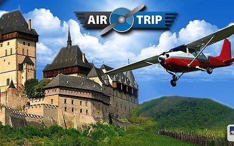 Vyhlídkový let nad Prahou (20 min), Karlštejnem (40 min) nebo Českým rájem (60 min)! Poznejte krásy Česka z ptačí perspektivy a navíc za fantastickou cenu! Výběr z mnoha termínů i tras!