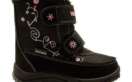 Dětské černé zimní boty s prošíváním Numero Uno
