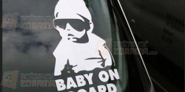 Originální samolepka na auto - Baby on board a poštovné ZDARMA! - 24312713