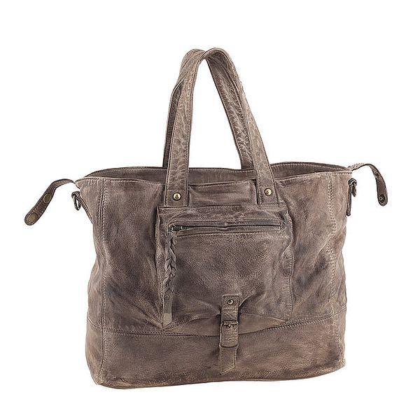 Dámská kabelka s kapsou v barvě taupe Amylee