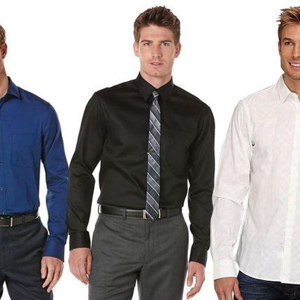Pánská regular fit košile Perry Ellis v 10 barevných provedeních