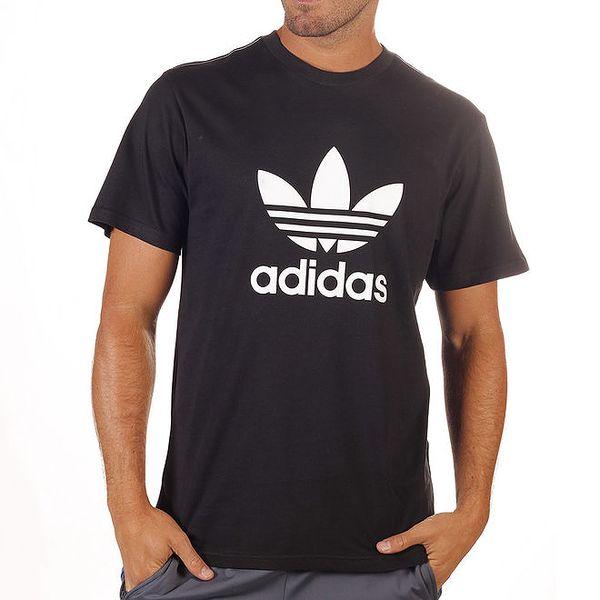 Pánské černé tričko s potiskem Adidas