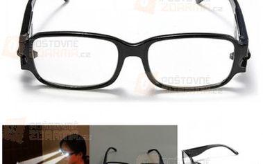 Dioptrické brýle na čtení s LED osvětlením - na výběr z 6 doptrií a poštovné ZDARMA! - 24210608