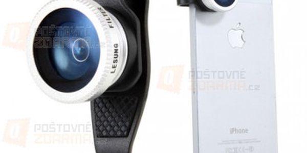 Externí objektiv pro iPhone 4, 4S, 5 - rybí oko a poštovné ZDARMA! - 24112712