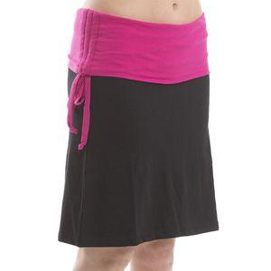 Dámská černá sukně s fuchsiovým lemem Alpine Pro