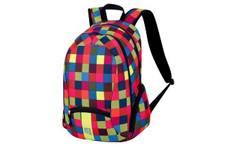 Barevně kostkovaný batoh Alpine Pro