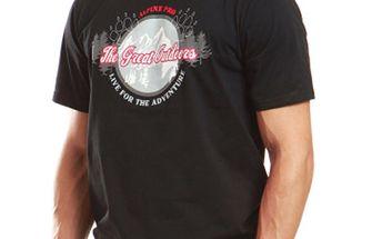 Pánské černé tričko s krátkým rukávem Alpine Pro
