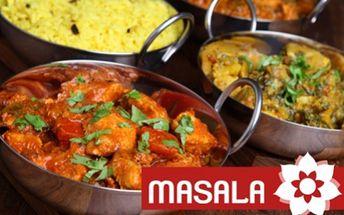 3 pobočky slavné INDICKÉ restaurace MASALA! Veškerá jídla dle vašeho výběru za senzační ceny v síti nejnavštěvovanějších indických restaurací. Ochutnejte jídla připravená rodilými indickými kuchaři z nejkvalitnějších surovin!