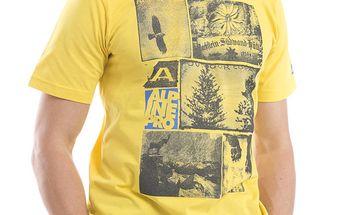 Pánské žluté bavlněné tričko Alpine Pro