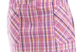Dámská růžová sukně s barevnými proužky Alpine Pro