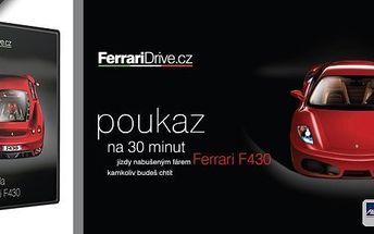 Žijeme jen jednou, proto si s námi pojďte život pořádně užít! Věřte, že na jízdu v tomto autě nikdy nezapomenete! 30 minut jízdy snů ve voze Ferrari F430 v Ostravě a Olomouci! Platnost do konce října!