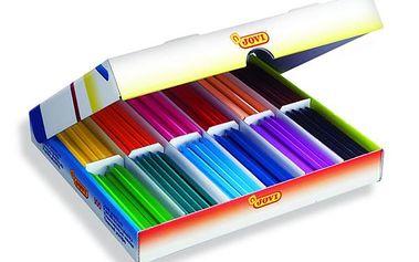 Pastelky Plasticolor Jovi 12 barev 300 kusů - šestihranné - 115 mm