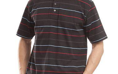 Pánské černé polo tričko s proužky Alpine Pro