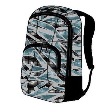 Bílo-černo-modrý vzorovaný batoh Alpine Pro