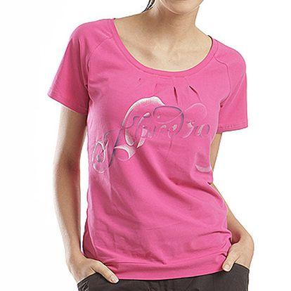 Dámské růžové tričko s barevným potiskem Alpine Pro