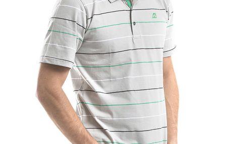 Pánské světle šedé polo tričko s proužky Alpine Pro