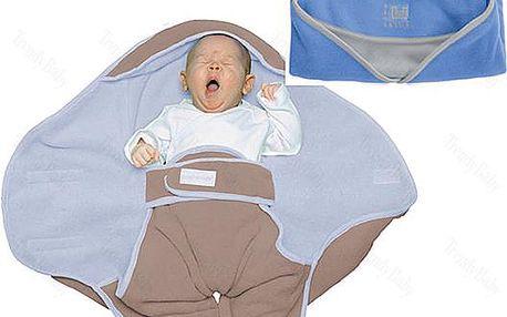 Babynomade zavinovačka fleece - levandulová/slonová kost