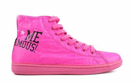 Dámské neonově růžové tenisky Fuck Me I Am Famous by David Guetta