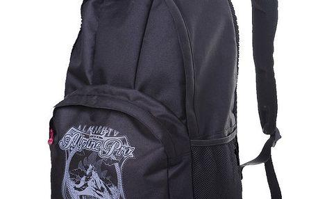 Černý batoh s potiskem na kapse Alpine Pro