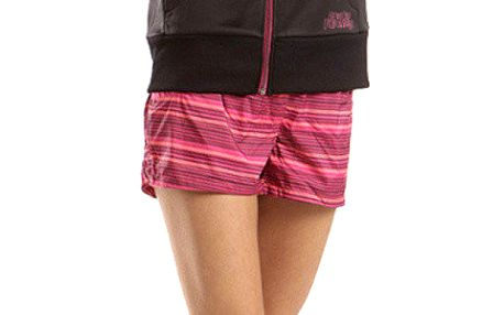 Dámské růžové pruhované šortky Alpine Pro