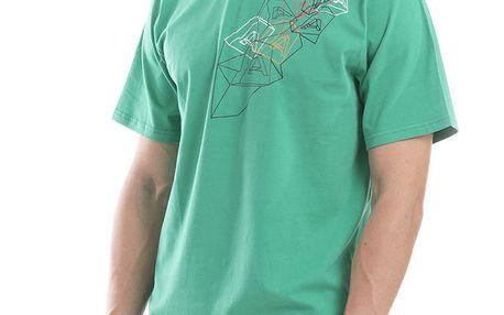 Pánské zelené tričko s krátkým rukávem Alpine Pro