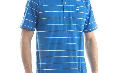 Pánské modré polo tričko s proužky Alpine Pro