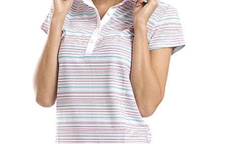 Dámské polo tričko s barevnými proužky Alpine Pro