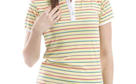 Dámské žluté pruhované polo tričko Alpine Pro