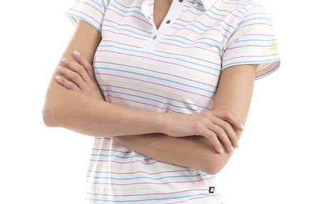 Dámské bílé pruhované polo tričko Alpine Pro