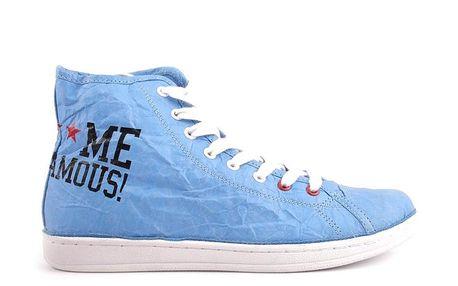 Dámské neonově modré tenisky Fuck Me I Am Famous by David Guetta
