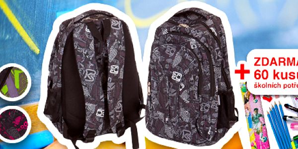 Škola volá! Krásný školní batoh a veškeré školní potřeby za 299 Kč!