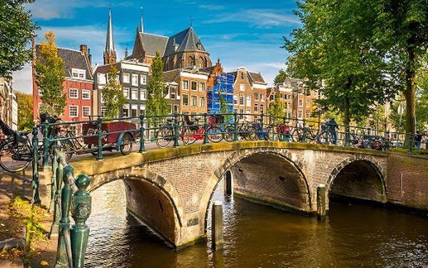 Amsterdam, rybářská vesnička Volendam a větrné mlýny v Holandsku