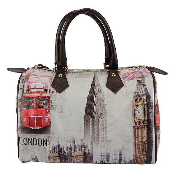 Dámská kožená kabelka s motivem Londýna Guilia