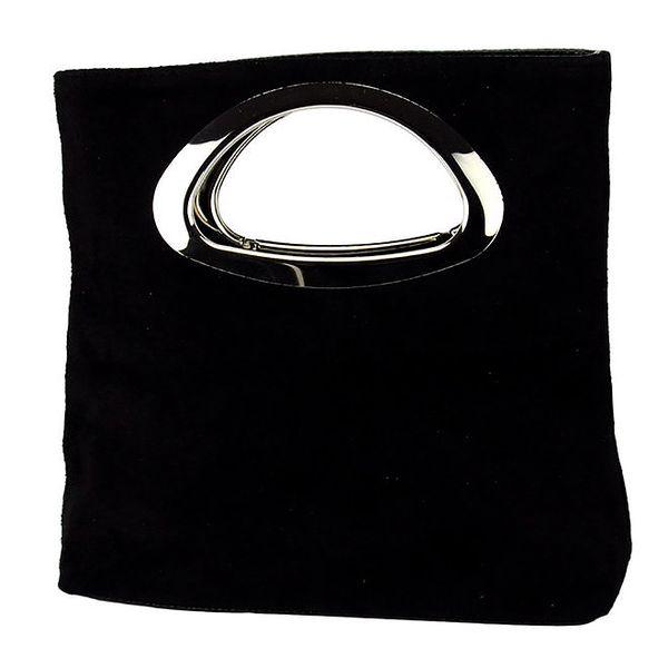 Dámská černá kožená kabelka do ruky Giulia