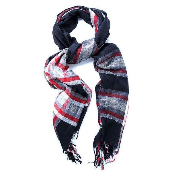 Dámský barevně kostkovaný šátek Belle & Bloom