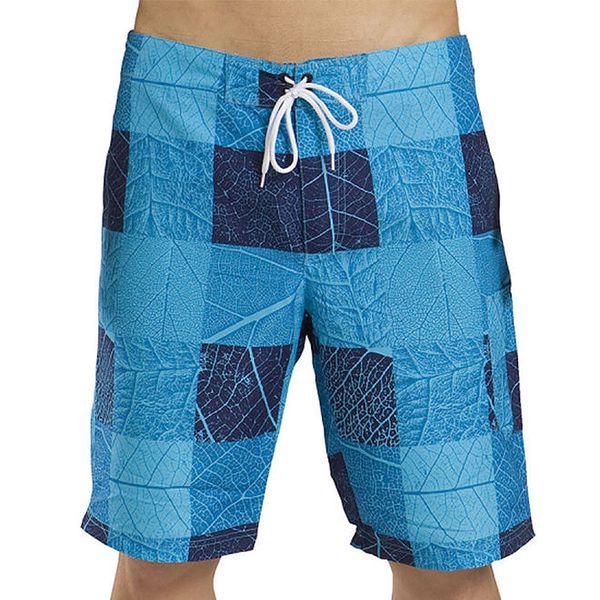 Pánské modré šortky s listy Alpine Pro