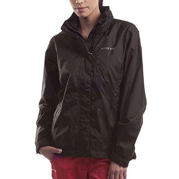 Dámská černá bunda s kapucí Alpine Pro