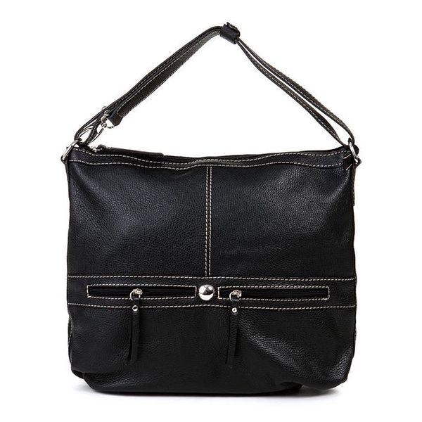 Dámská černá kabelka se dvěma ozdobnými zipy Giulia