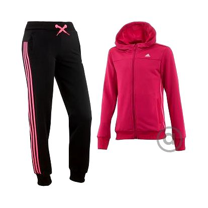 adidas SEPARATES HOODED POLYESTER TRACK SUIT 164