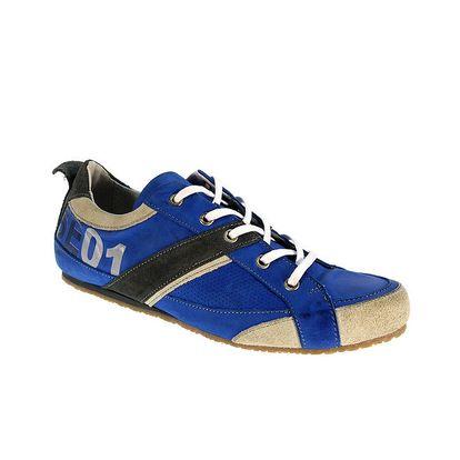 Pánské modré kožené boty Red Hot