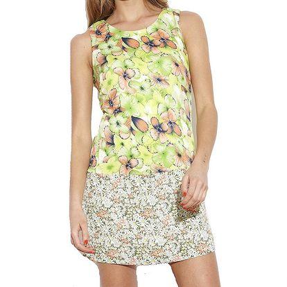 Dámské zelené šaty s květinovým vzorem Angel Eye